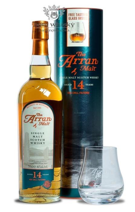 Arran 14-letnia Non Chill-filtered+ szklanka / 46% / 0,7l