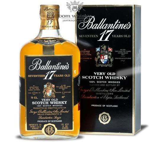 Ballantine's 17 letni Old Label 1980's / 43% / 0,75l