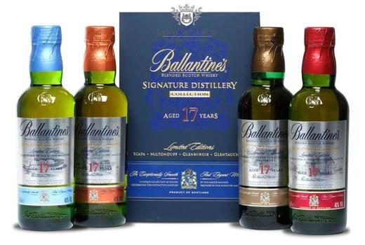 Ballantine's 17 letni Zestaw / 40% / 4 x 0,2l