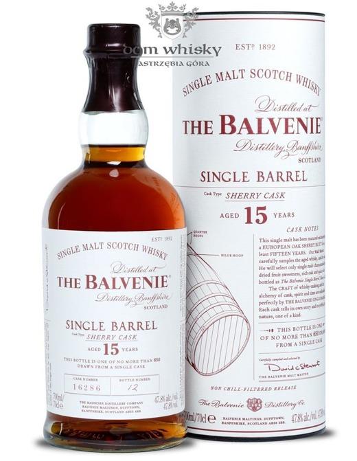 Balvenie 15-letni Single Barrel (Sherry Cask) / 47,8% / 0,7l