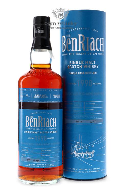 BenRiach 1998 Triple Distilled/Pedro Ximenez Finish, 18-letni (Pedro Ximenez Puncheon # 6401) / 57,3% / 0,7l