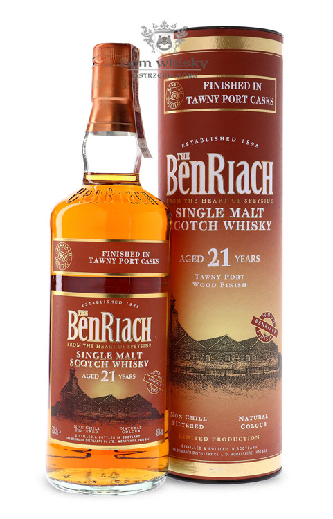 BenRiach 21-letni Tawny Port Finish / 46% / 0,7l