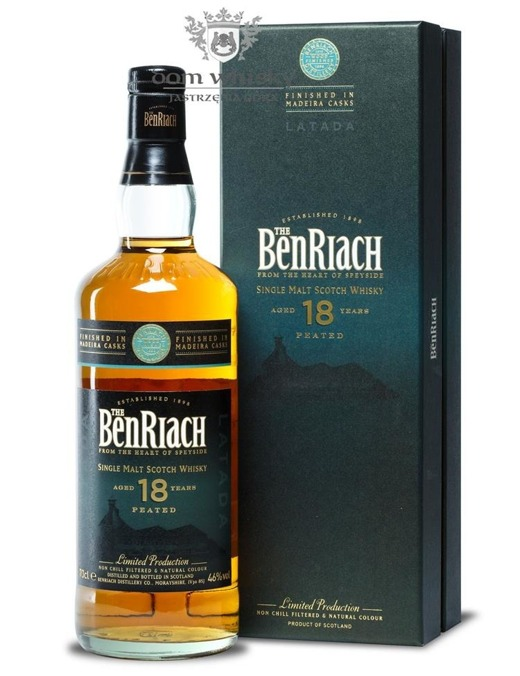BenRiach Latada Peated, 18-letnia, Bottled 2015 / 46% / 0,7l