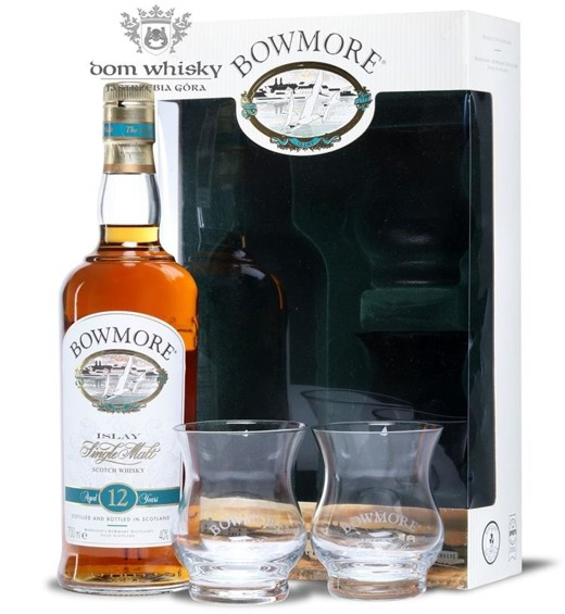 Bowmore 12-letni (with Tasting Glasses) / 40% / 0,7l