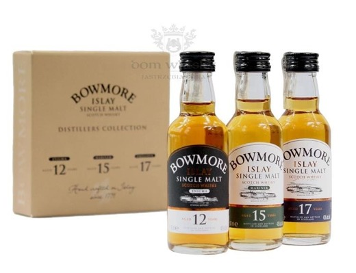 Bowmore Distillers Collection 3 x 0,05l / 12YO; 15YO; 17YO