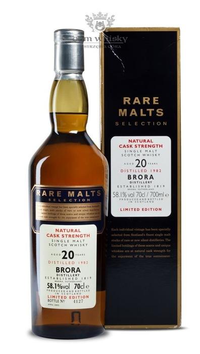Brora 20-letnia (D.1982, B.2003) Rare Malts / 58,1% / 0,7l