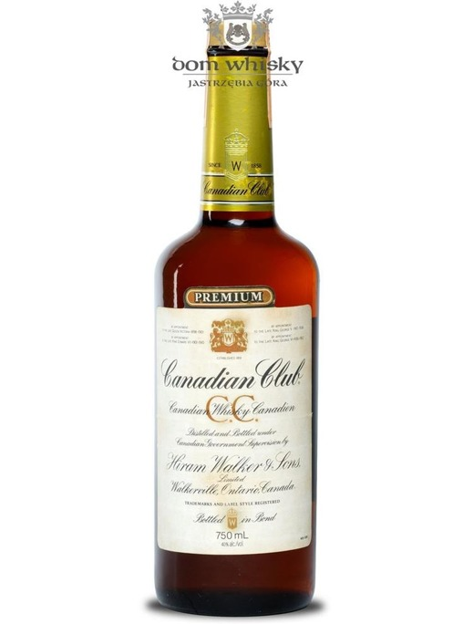 Canadian Club 6-letni, Hiram Walker & Sons (B.1981) / 40% / 0,75