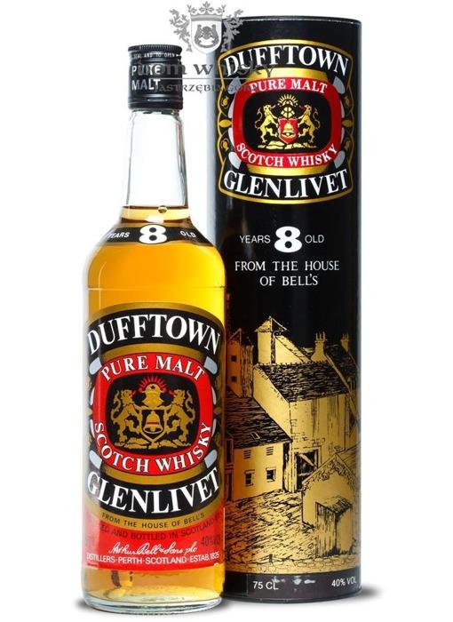 Dufftown-Glenlivet Pure Malt, 8-letni (Bottled 1980s) /40/ 0,75l