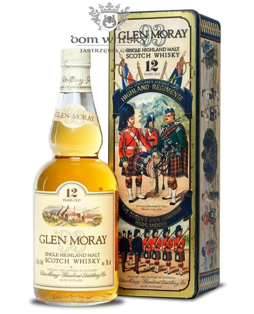 Glen Moray 12-letni (Historic Highland Regiments) / 43% / 0,75l