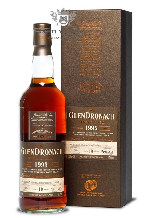 GlenDronach 19-letni (D.1995 B.2014) Single Cask # 4941 /57%/0,7