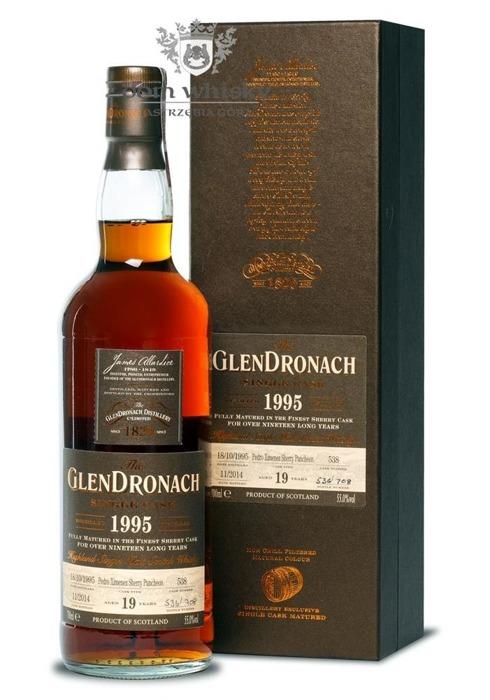 GlenDronach 19-letni (D.1995 B.2014) Single Cask # 538/55%/ 0,7l