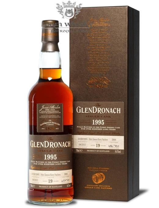 GlenDronach 19-letni (D.1995 B.2015)Single Cask #3806 /54,5%/0,7