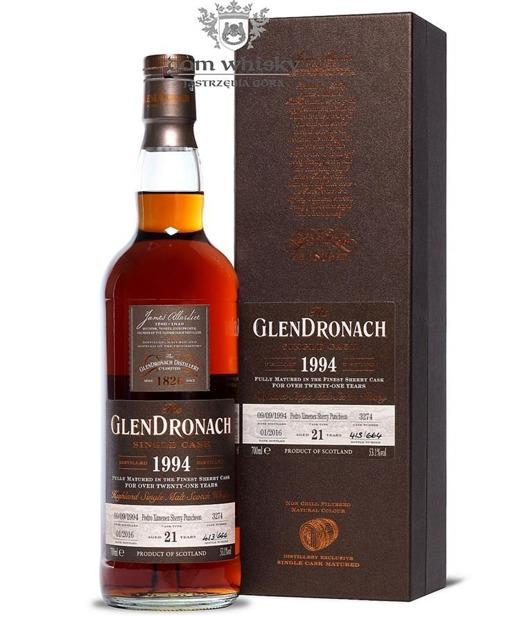 GlenDronach 21-letni (D.1994 B.2016)Single Cask #3274 53,1% 0,7l