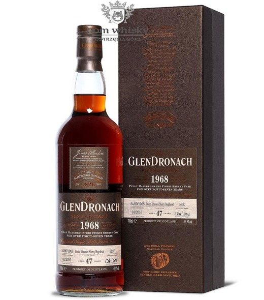 GlenDronach 47-letni (D.1968 B.2016)Single Cask #5837 45,9% 0,7l