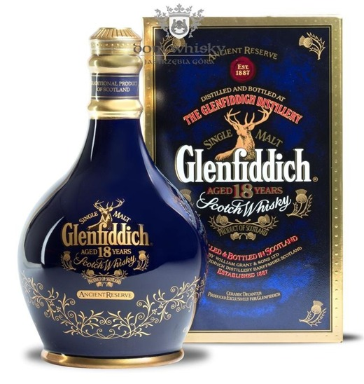Glenfiddich 18-letni Ancient Reserve, Blue Decanter/ 43%/ 0,7l
