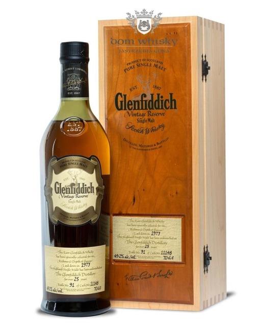Glenfiddich 1973 Vintage Reserve, 25-letni (Cask11148)49,2%/0,7