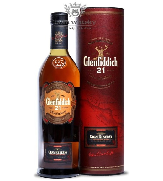 Glenfiddich 21-letni Gran Reserva Cuban Rum Finish/ 40%/0,7l