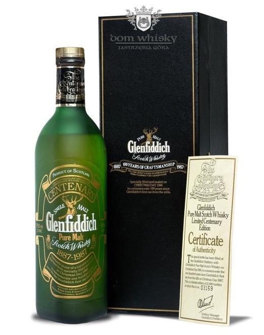 Glenfiddich Centenary Edition, 1887-1987 / 43%/ 0,75l