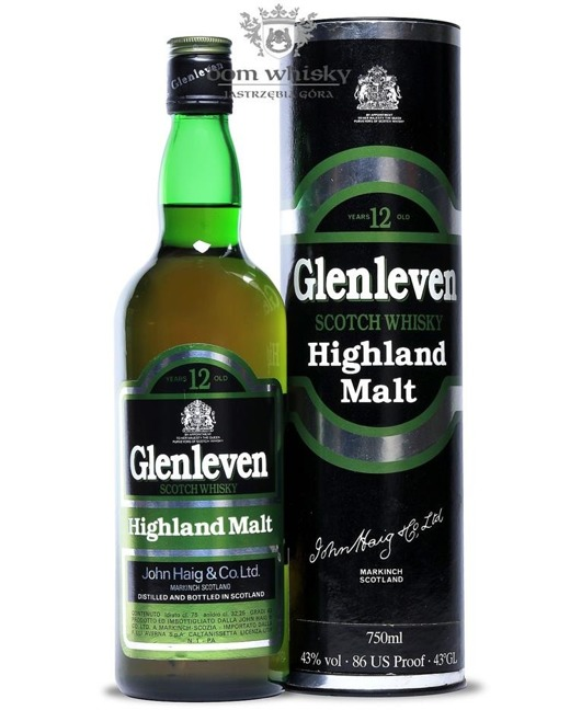 Glenleven 12-letni, John Haig & Co. Ltd / 43%/ 0,75l