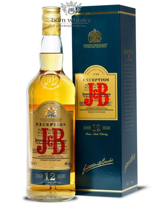 J&B Exception 12 letni Justerini&Brooks / 40% / 0,7l