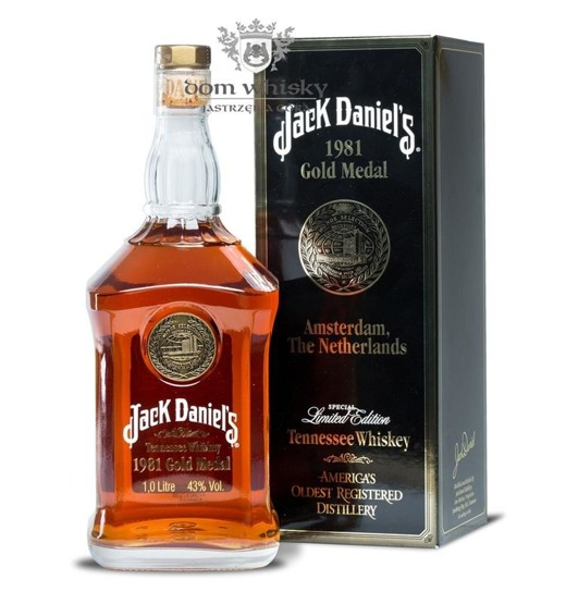 Jack Daniel's Gold Medal 1981, Amsterdam / 43% / 1,0l