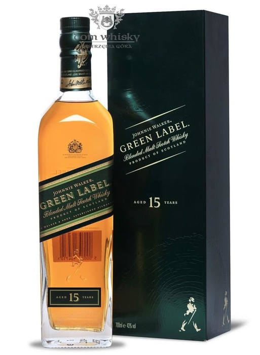 Johnnie Walker 15-letni Blended Malt Green Label / 43% / 0,7l