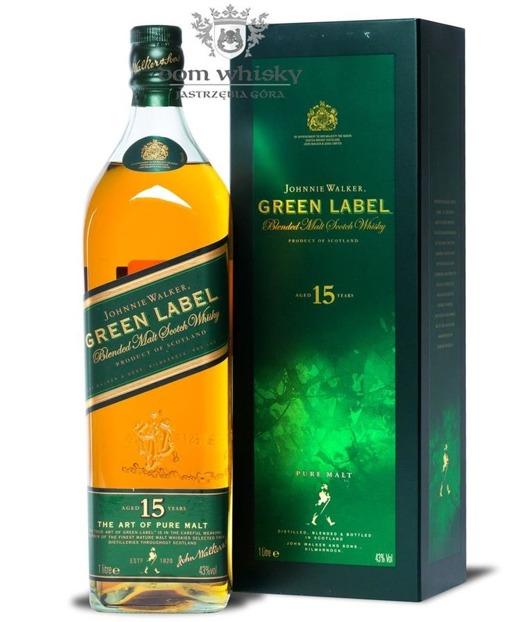 Johnnie Walker 15-letni Pure Malt Green Label / 43% / 1,0l