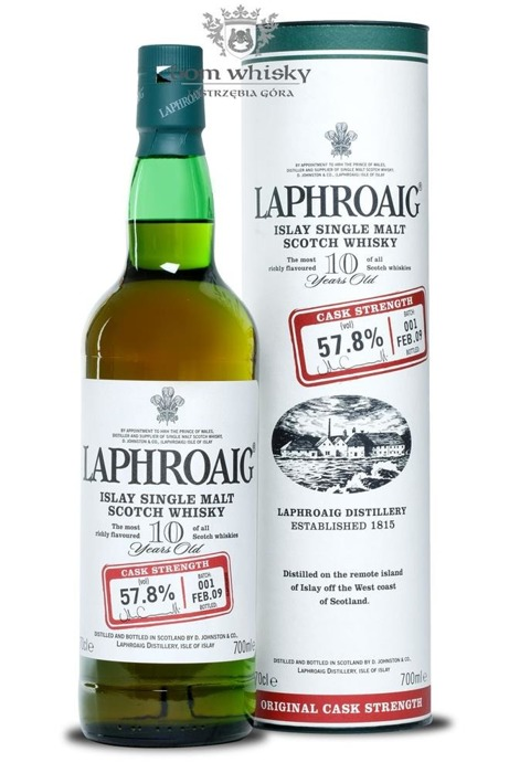 Laphroaig 10-letni Cask Strength Batch 001/ 57,8% /0,7l