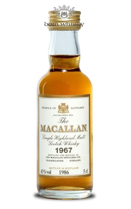 Macallan 18 letni D.1967 B.1986 / 43% / 0,05l