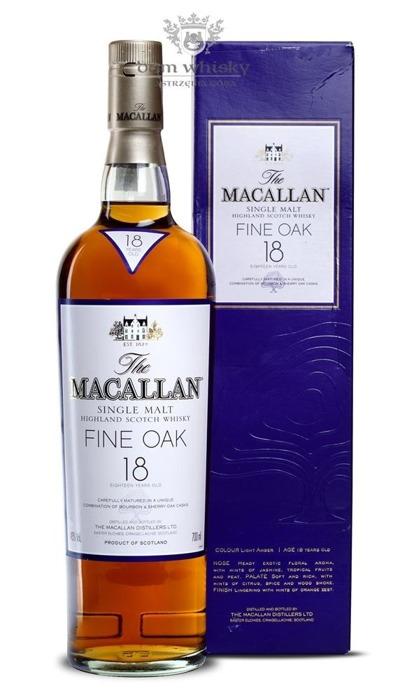 Macallan 18-letni Fine Oak (Bourbon & Sherry Casks) /43%/0,7l