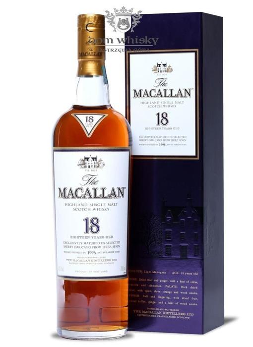 Macallan 1996 Sherry Oak, 18-letni / 43%/ 0,7l