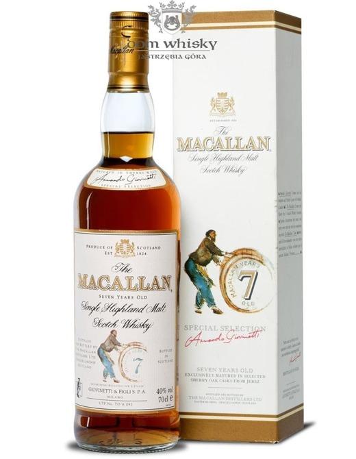 Macallan 7-letni Armando Giovinetti Selection /40%/0,7l