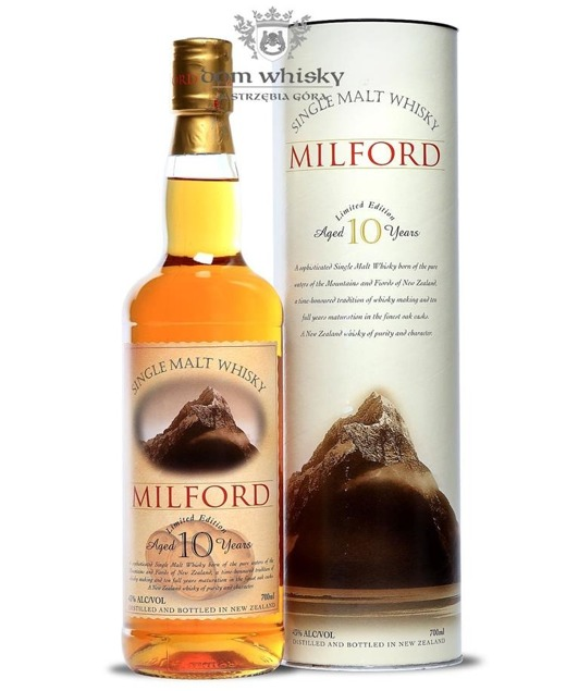 Milford Malt 10-letni (Nowa Zelandia) / 43% / 0,7l