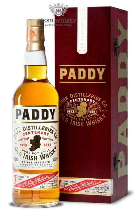 Paddy 7 letni Centenary Limited Edition / 43% / 0,7l