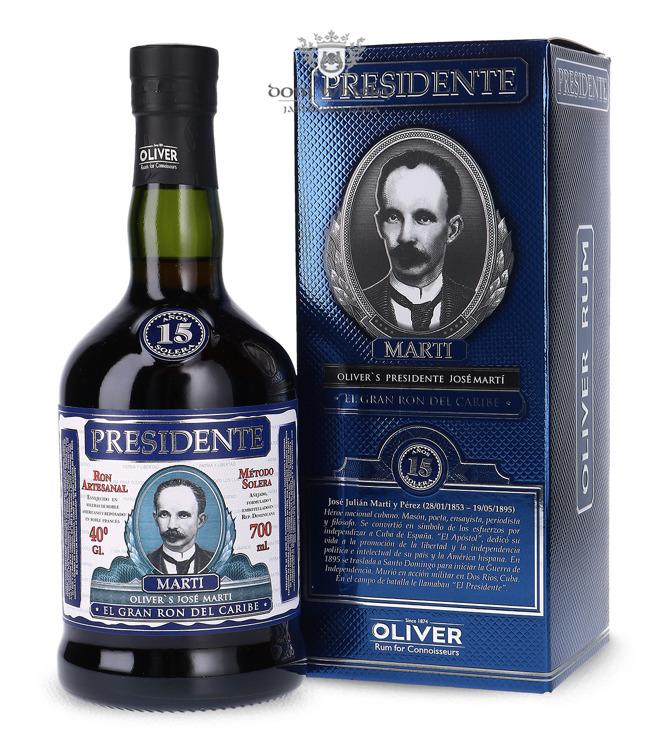 Presidente Marti 15-letni Solera Rum /Dominicana/ 40% / 0,7l