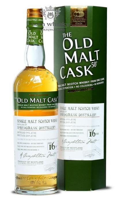 Springbank 16 letni D.1993 B.2009 Old Malt Cask / 50% / 0,7l