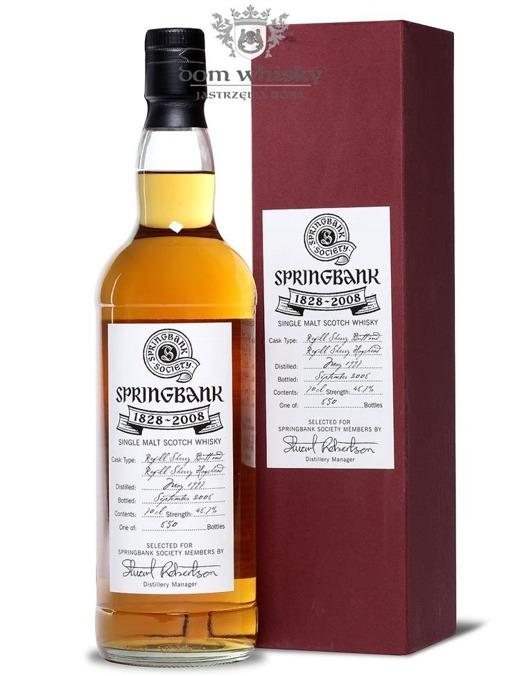 Springbank 180th Anniversary D1997 B2008Society Bottling48,7/0,7