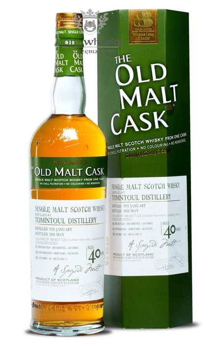 Tomintoul 40 letni D.1970 B.2010 Old Malt Cask / 46,5% / 0,7l