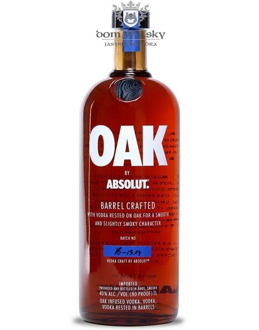 Wódka Absolut Oak / 40% / 1,0l